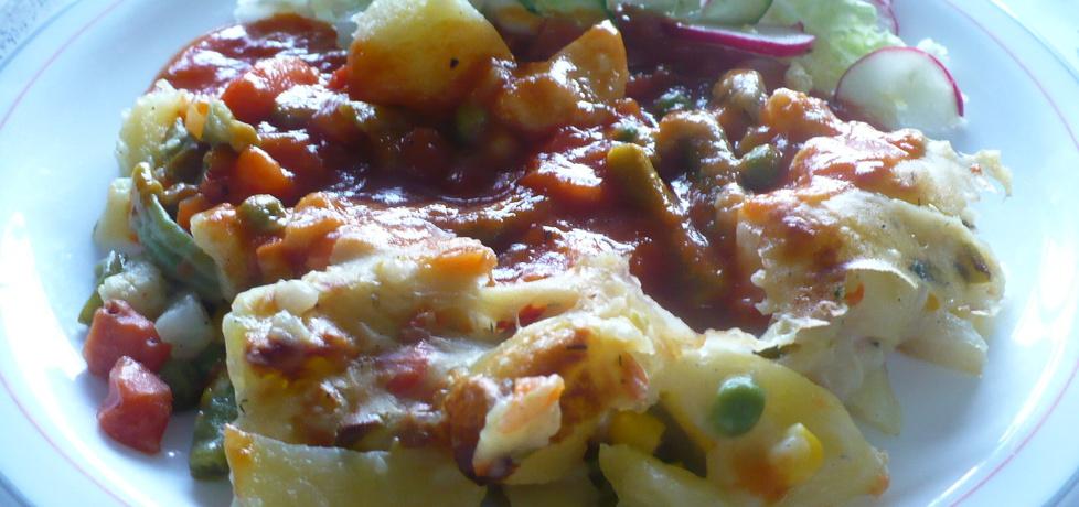 Zapiekanka ziemniaczana z sosem pomidorowym (autor: parysek10 ...