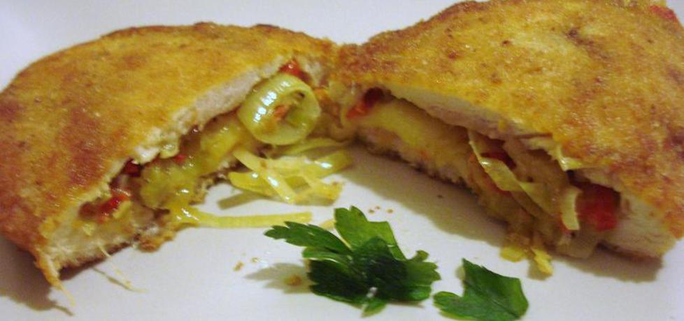Filet z kurczaka faszerowany porem i papryką (autor: ania67 ...