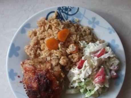 Przepis  ryż z udkami pieczony przepis
