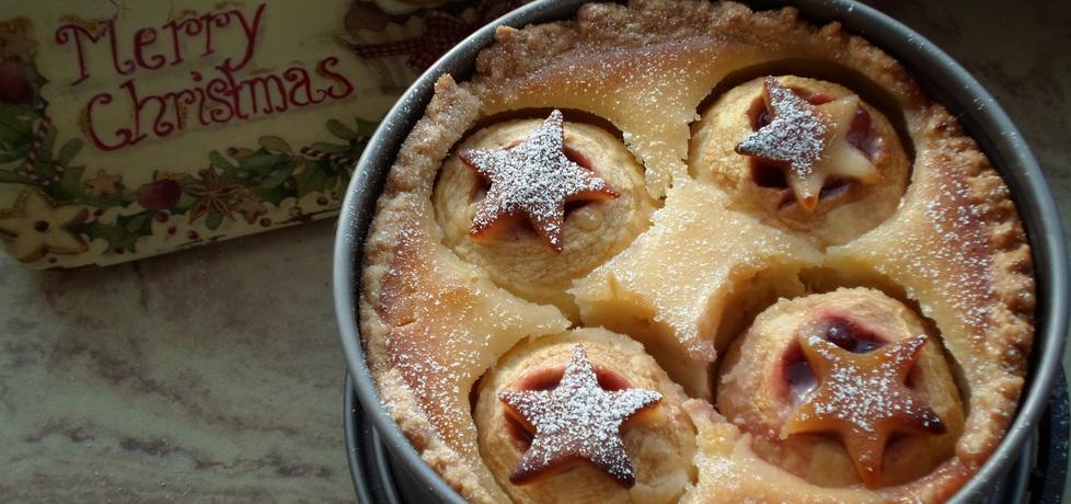 Jabłka w cieście marcepanowym na kruchym spodzie (autor: dwa ...