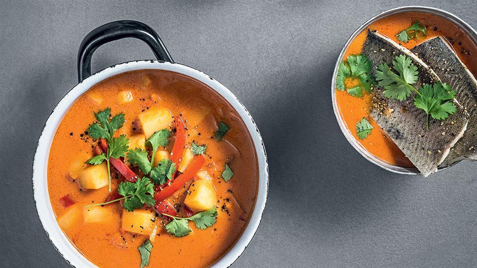 Przepis na zupę rybną kokosowo-pomidorową