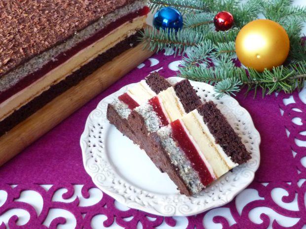 Przepis  ciasto z serem i musem truskawkowym przepis