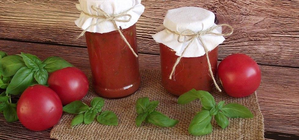 Sos pomidorowy z bazylią do słoików na zimę (autor: konczi ...