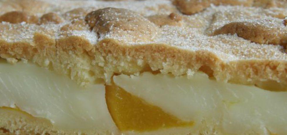Kruche ciasto z budyniem i brzoskwiniami (autor: ewelina38 ...