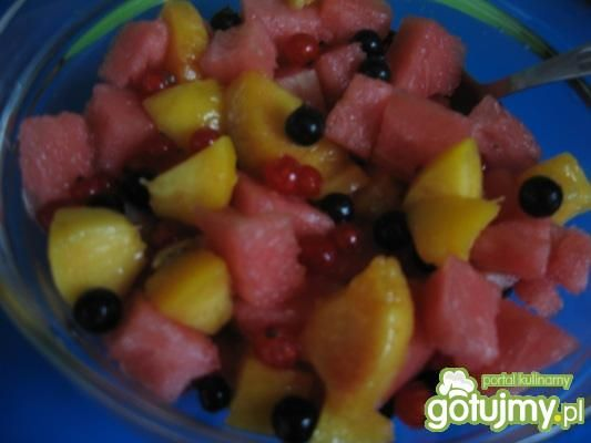 Przepis  sałatka owocowa fantazja przepis