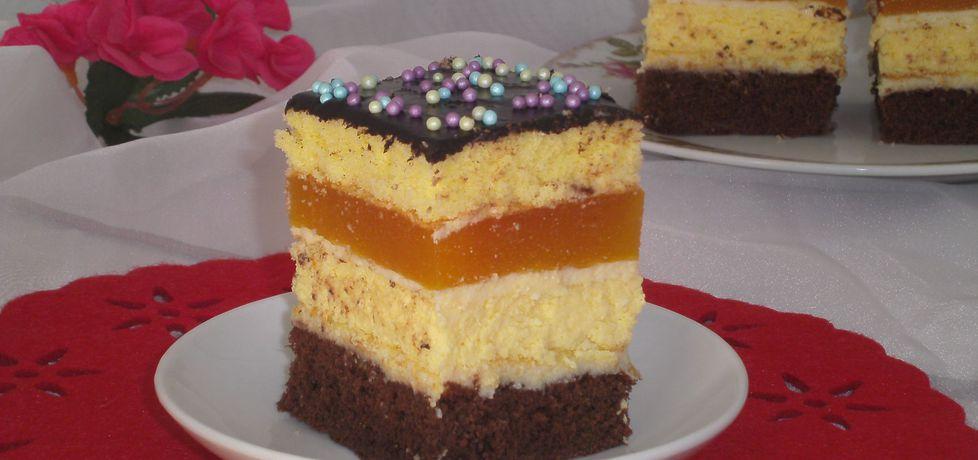 Ciasto z wkładką serową i musem brzoskwiniowym (autor ...