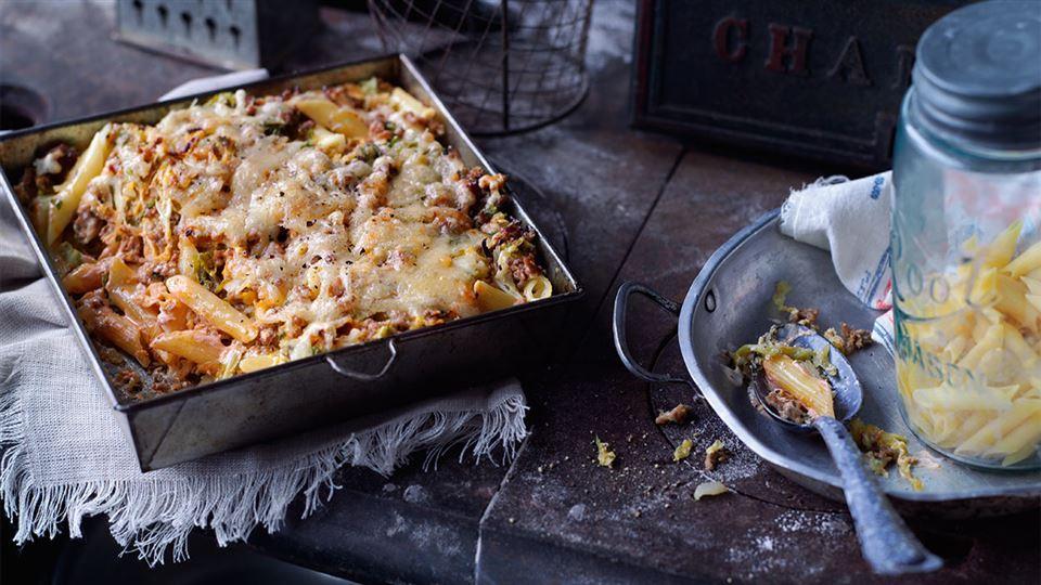 Przepis na zapiekankę makaronową z mięsem