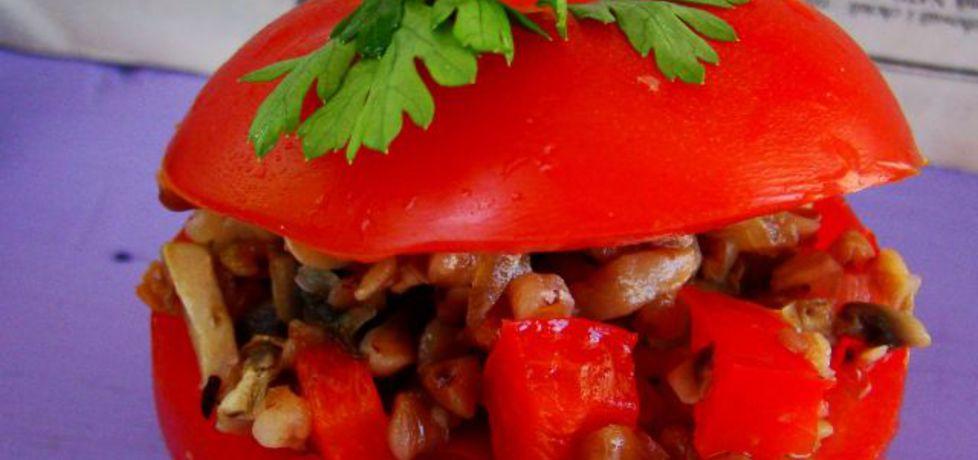 Pomidory nadziewane kaszą gryczaną z pieczarkami (autor: iwa643 ...
