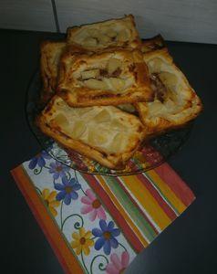Ciasteczka francuskie z serkiem białym, ananasem, cynamonem ...