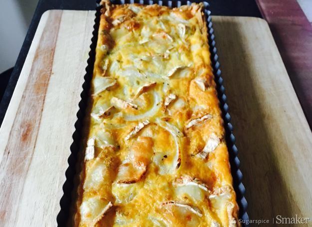 Tarta z kozim serem i cebula