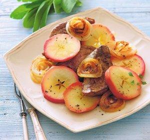 Wątróbka w jabłkach  prosty przepis i składniki