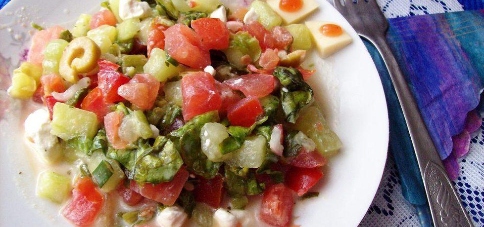 Sałatka z fetą i oliwkami (autor: agnieszka8725)