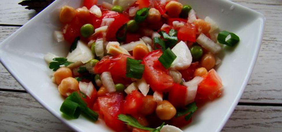 Sałatka z cieciorką i mozzarellą (autor: iwa643)
