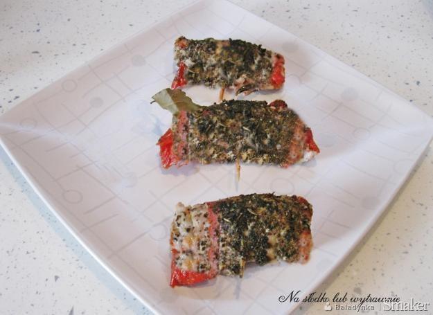 Schabowe roladki z boczkiem i suszonymi pomidorami