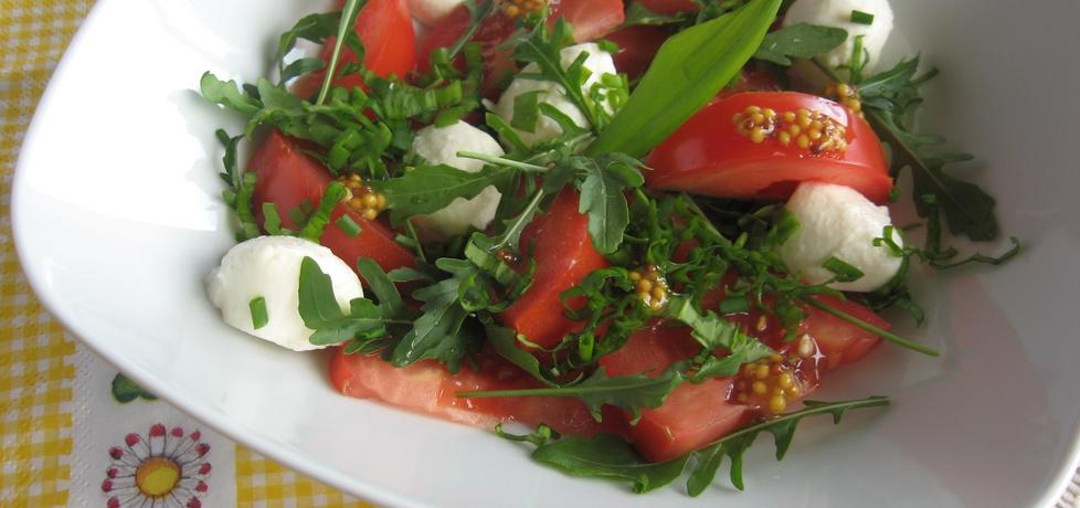 Sałatka z pomidorów i rukoli z mozzarellą (autor: anemon ...