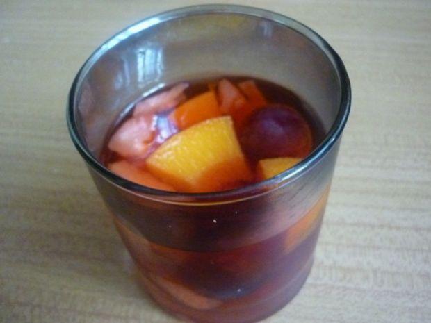 Przepis  deser owocowy z galaretką przepis