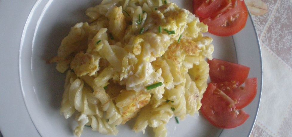 Makaron podsmażany z jajkiem i szczypiorkiem (autor: ilonaalbertos ...