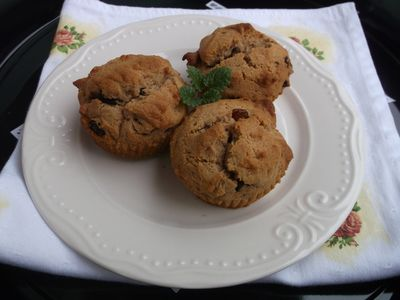 Muffinki z chałwą i rodzynkami