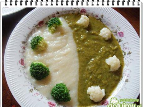 Przepis  zupa eli kem brokułowo-kalafiorowy przepis