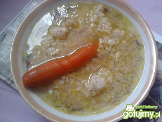 Przepis  brązowy ryż z rosołem przepis
