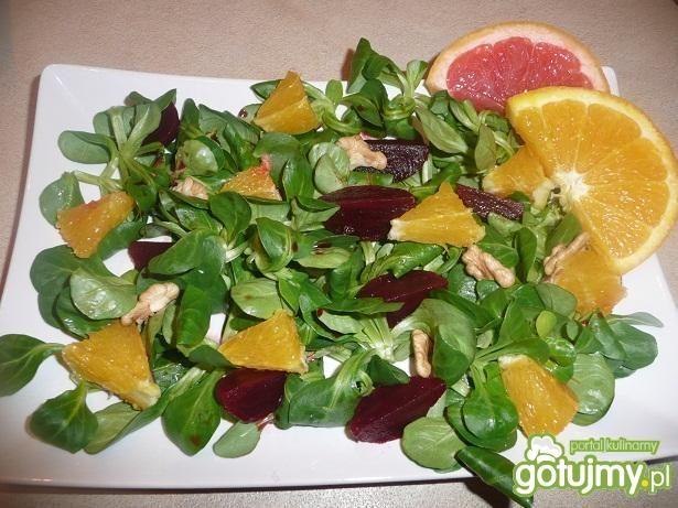 Przepis  sałatka z burakami i pomarańczą przepis