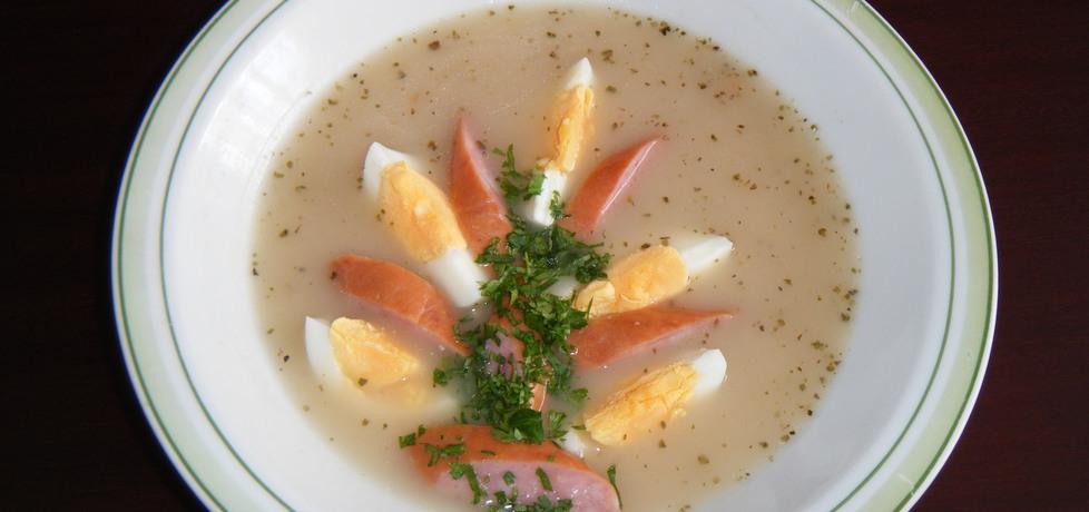 Tradycyjny barszcz biały z jajkiem i kiełbasą (autor: renatazet ...