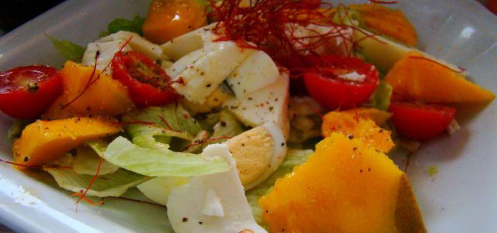 Kolorowa sałatka z mango i jajkiem (autor: iwa643 ...