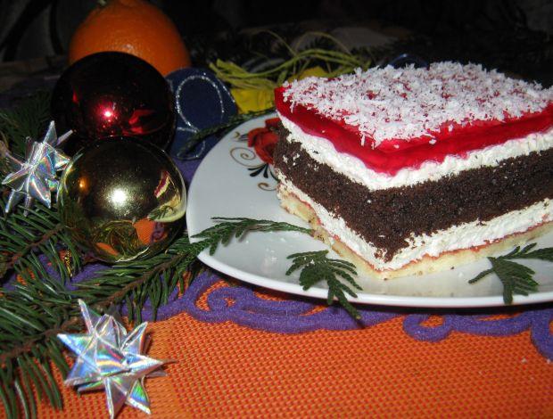 Przepis  ciasto z piernikową wkładką przepis