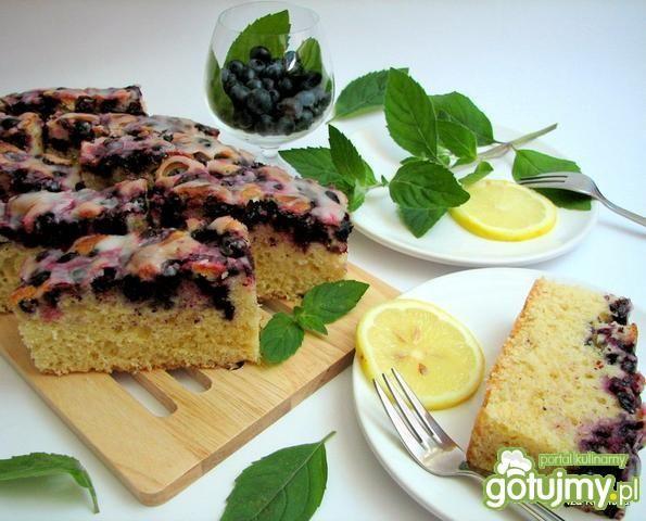Przepis  ciasto cytrynowe z borówkami przepis
