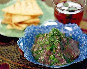 Baba ganush (przecier z bakłażanów)