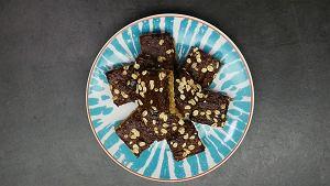 Batoniki owsiane z masą czekoladową