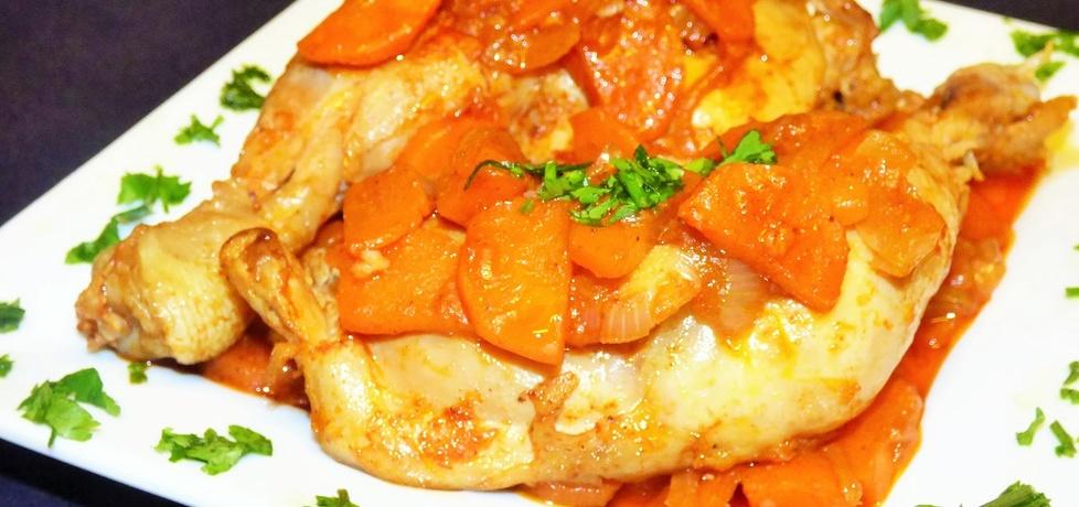 Udka kurczaka z duszoną marchewką (autor: patrycja33 ...