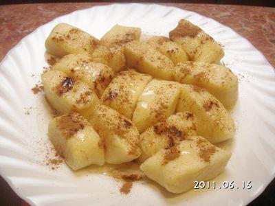 Kluski z serem i cynamonem dla ucznia