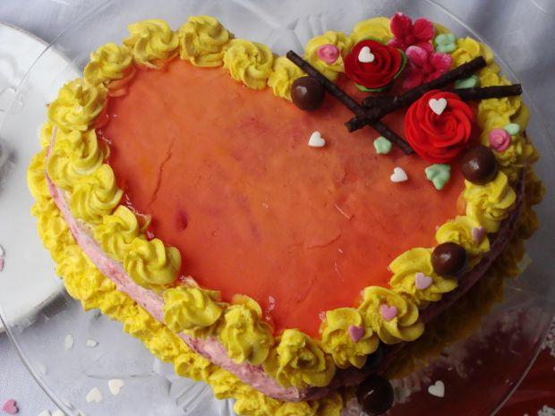 Przepis  tort dla zakochanych przepis