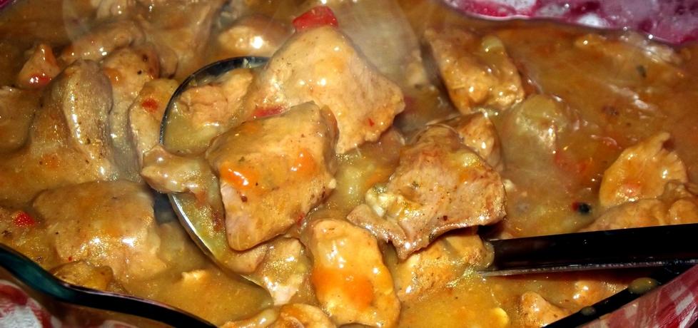 Gulasz wieprzowy z szynki w sosie własnym (autor: martafwkuchni ...