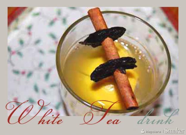White tea drink