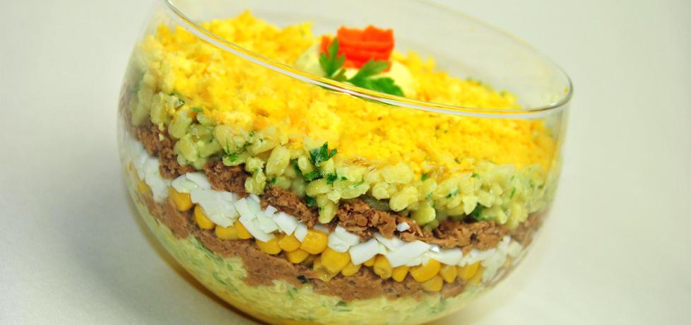 Sałatka warstwowa z tuńczykiem i mango (autor: rng