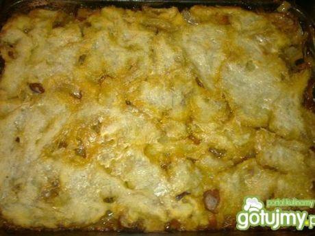Przepis  zapiekanka z gotowanych ziemniaków przepis