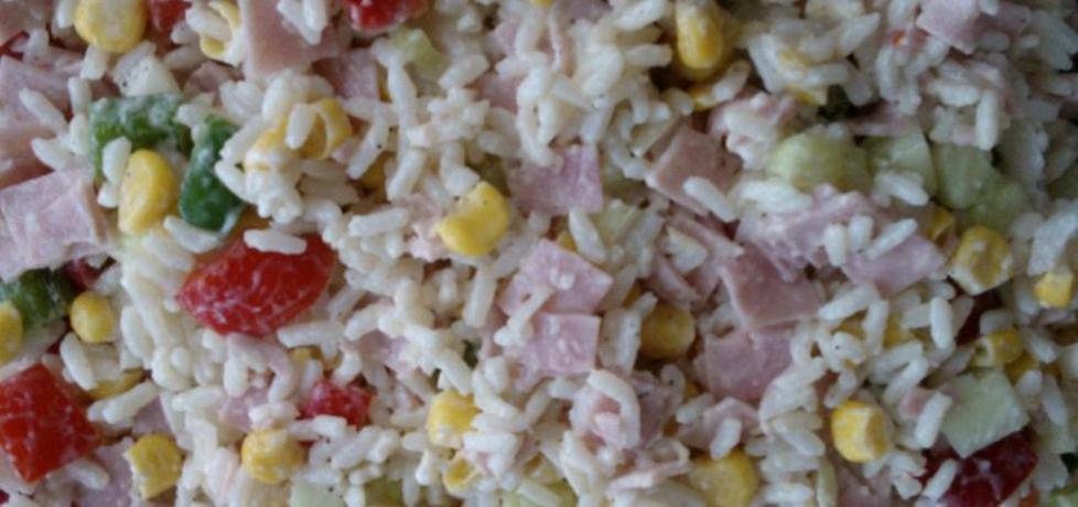 Sałatka ryżowa z szynką (autor: ankaryba)
