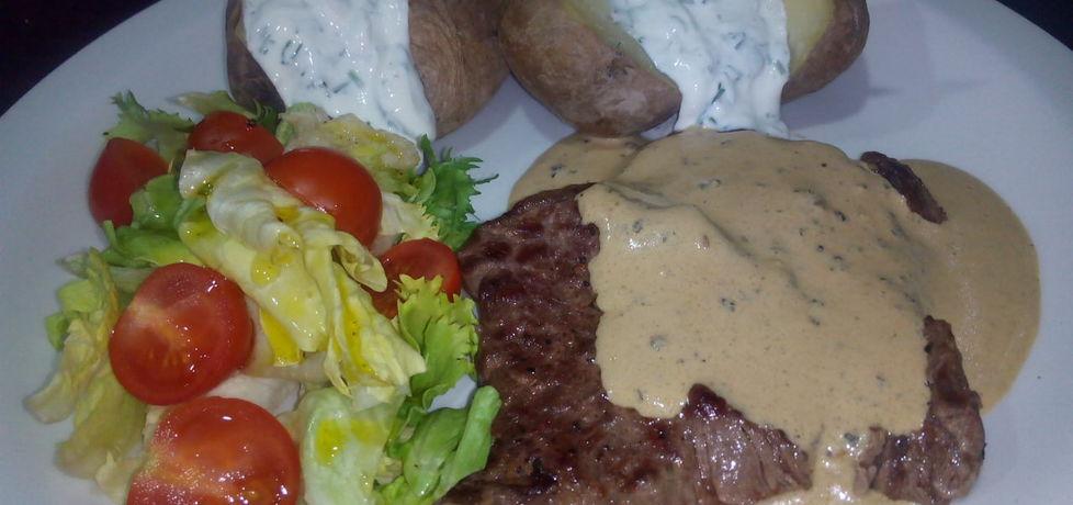 Stek wołowy z sosem pieprzowym (autor: justynkag ...