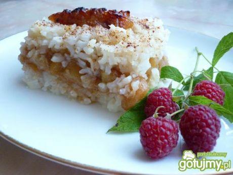 Przepis  ryż zapiekany z jabłkami wg reniz przepis