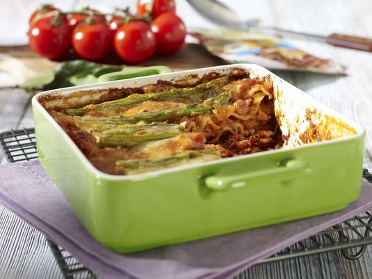 Bolońska lasagne ze szparagami