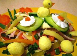 Sałatka warzywna  prosty przepis i składniki