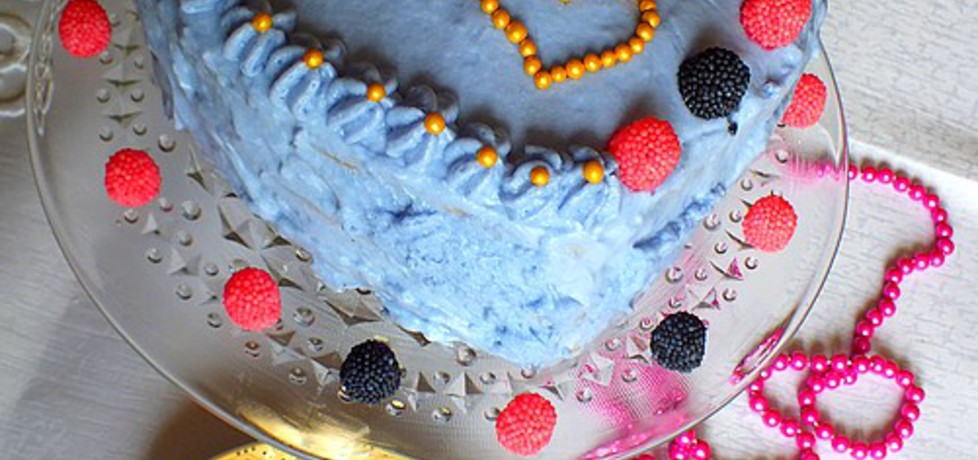 Tort brzoskwiniowo – truskawkowy (autor: mysiunia ...