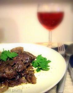Wątróbka w winie i ziołach prowansalskich