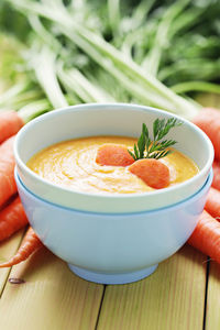 Krem z marchewki