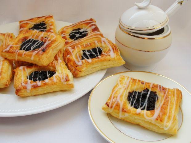 Przepis  ciasteczka francuskie z powidłami przepis