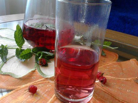 Przepis  napój z malin i mięty przepis