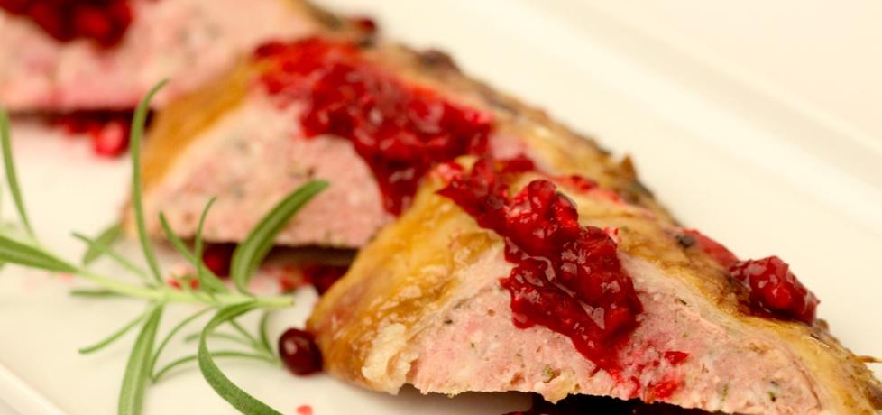 Pieczona kaczka po krakowsku z grzybami i kaszą gryczaną