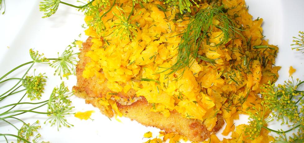 Ryba pod pierzynką z młodej marchewki (autor: jagoda5913 ...